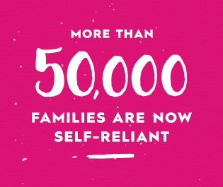 More than 50,000 Families are now self-reliant